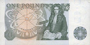 Banknotes Grande Bretagne. Billet. 1 livre (1978-1980)