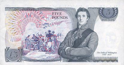 Banknotes Grande Bretagne. Billet. 5 livres (1987-1988)