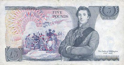 Banknotes Grande Bretagne. Billet. 5 livres (1988-1991)