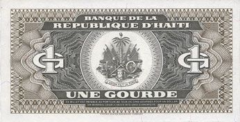 Banknotes Haïti. Billet. 1 gourde 1989