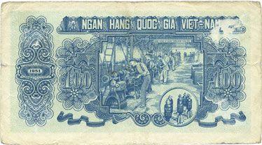Banknotes Vietnam. Banque Nationale du Vietnam - Ngân Hàng Quôc Gia Viêt Nam. Billet. 100 dong 1951