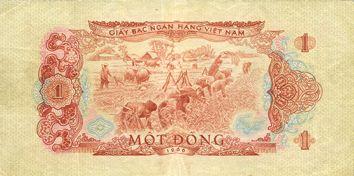 Banknotes Vietnam du Sud. Billet. 1 dong 1966 (1975)