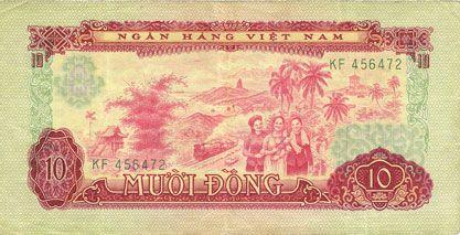 Banknotes Vietnam du Sud. Billet. 10 dong 1966 (1975)
