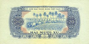 Banknotes Vietnam du Sud. Billet. 20 xu 1966 (1975)