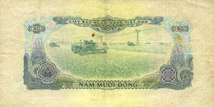 Banknotes Vietnam du Sud. Billet. 50 dong 1966 (1975)