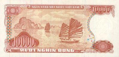 Banknotes Vietnam. République socialiste du Vietnam. Billet. 10 000 dong 1993