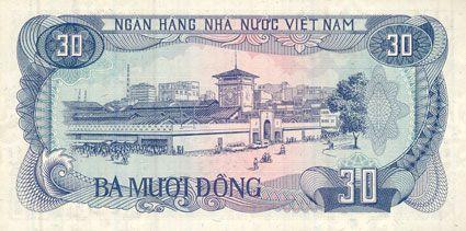 Banknotes Vietnam. République socialiste du Vietnam. Billet. 30 dong 1985