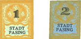 Billets Pasing, Stadt, billets, 1 pf, 2 pf (1920)