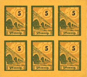Billets Salzburghofen, Gemeinde, billets, 6 x 5 pf 1920