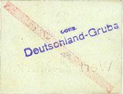 Billets Schwientochlowitz (Swietochlowice, Pologne). Deutschlandgrube. Billet. 2 mark n. d.