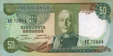 Billets Angola. Banque d'Angola (Banco de Angola). Billet. 50 escudos 24.11.1972