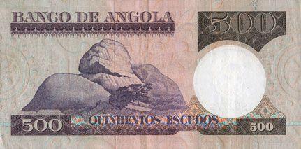 Billets Angola. Banque d'Angola (Banco de Angola). Billet. 500 escudos 10.6.1973