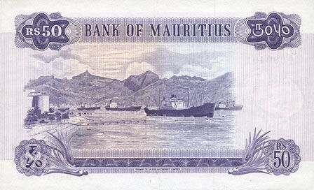 Billets Ile Maurice. Billet. 50 roupies 1967