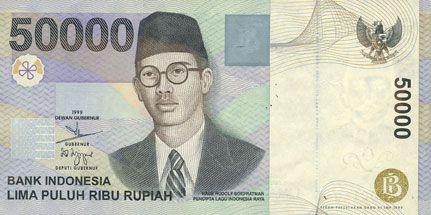 Billets Indonésie. Billet. 50 000 roupies 1999