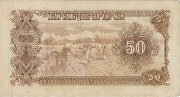 Billets Vietnam. Banque Nationale du Vietnam - Ngân Hàng Quôc Gia Viêt Nam. Billet. 50 dong (1951)
