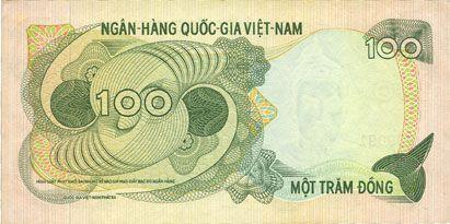 Billets Vietnam du Sud. Banque Nationale du Vietnam. Billet. 100 dong (1970)