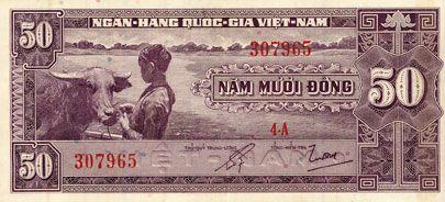 Billets Vietnam du Sud. Banque Nationale du Vietnam. Billet. 50 dong (1956)