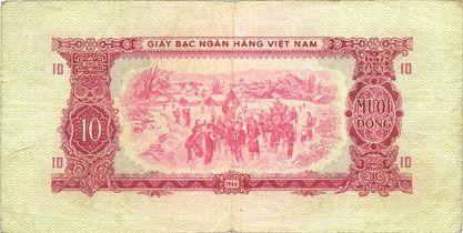Billets Vietnam du Sud. Billet. 10 dong 1966 (1975)
