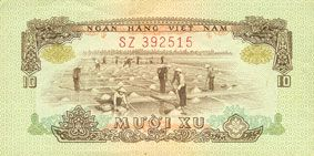 Billets Vietnam du Sud. Billet. 10 xu 1966 (1975)