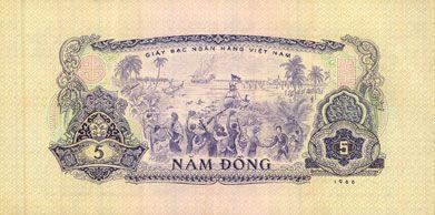 Billets Vietnam du Sud. Billet. 5 dong 1966 (1975)