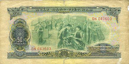 Billets Vietnam du Sud. Billet. 50 dong 1966 (1975)