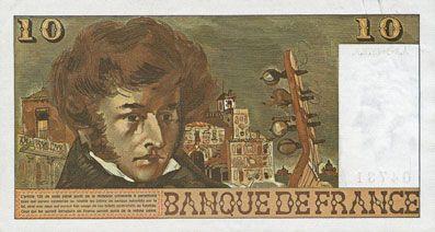 Billets Banque de France. Billet. 10 francs, Berlioz, 2.1.1976