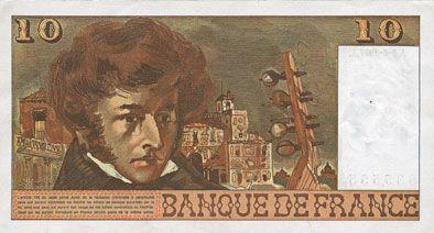 Billets Banque de France. Billet. 10 francs, Berlioz, 2.6.1977