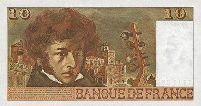 Billets Banque de France. Billet. 10 francs, Berlioz, 6.7.1978. Alphabet 306, lettre N