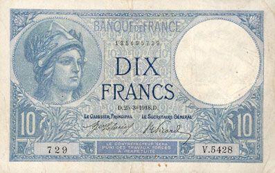 billet de banque 10 francs