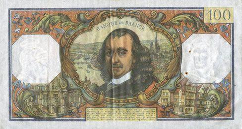 Billets Banque de France. Billet. 100 francs, Corneille, 3.10.1974