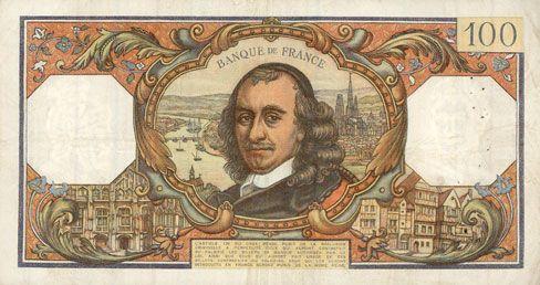 Billets Banque de France. Billet. 100 francs, Corneille, 6.4.1967