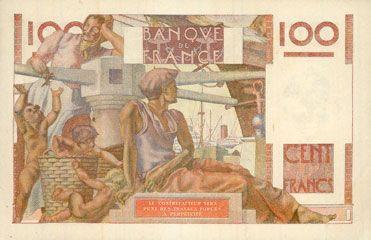 Billets Banque de France. Billet. 100 francs jeune paysan, 2.12.1948