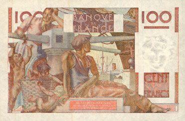 Billets Banque de France. Billet. 100 francs jeune paysan, 4.6.1953