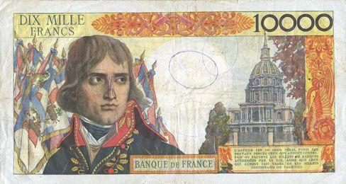 billets de la banque de france banque de france billet 100 nf 10 000 francs bonaparte 30. Black Bedroom Furniture Sets. Home Design Ideas