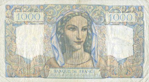 Billets Banque de France. Billet. 1000 francs, Minerve et Hercule, 7.3.1946