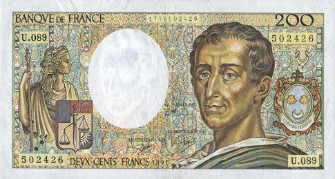 billet de banque 200 francs