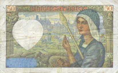 Billets Banque de France. Billet. 50 francs Jacques Coeur, 13.2.1941
