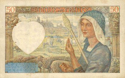 Billets Banque de France. Billet. 50 francs Jacques Coeur, 8.5.1941