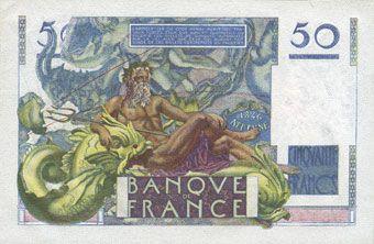 Billets Banque de France. Billet. 50 francs Le Verrier, 2.10.1947