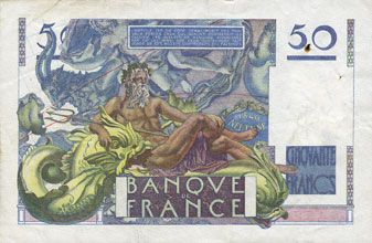Billets Banque de France. Billet. 50 francs Le Verrier, 2.5.1946