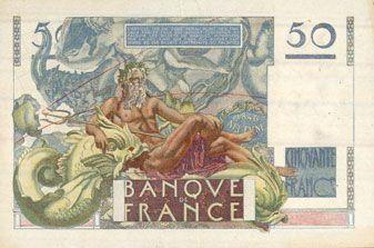 Billets Banque de France. Billet. 50 francs Le Verrier, 24.8.1950