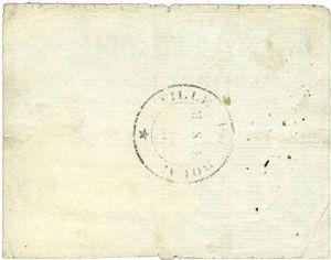 Billets Douai (59). Ville. Billet. 2 francs 30.8.1914, série C1
