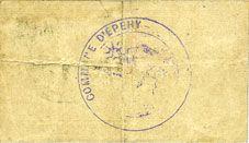 Billets Epehy (80). Commune. Billet. 5 centimes 31.1.1915