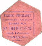 Billets Francilly-Selency (02). Commune. Billet. 10 kilo de beurre