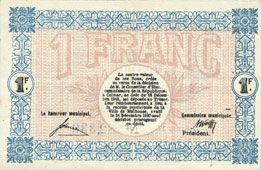 Billets Mulhouse (68). Ville. Billet 1 franc 18.12.1918. Série H