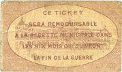 Billets Toulouse (31). Ville. Billet. 10 centimes