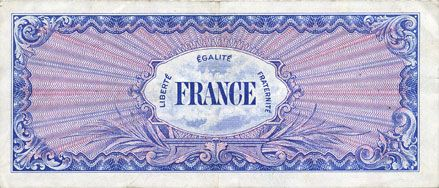 Billets Billet. 100 francs, France, type américain, 1945, série 4