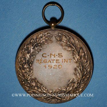 Coins Alsace. Cercle nautique de Strasbourg. 1920. Médaille bronze
