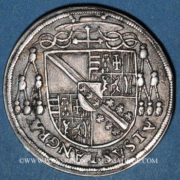 Coins Alsace. Evêché de Strasbourg. Charles de Lorraine (1592-1607). Teston 1603