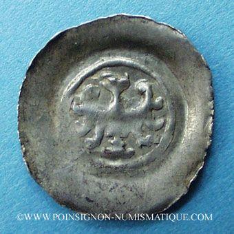 Coins Alsace. Evêché de Strasbourg. Epoque des Hohenstaufen (1138-1284). Denier. Offenbourg vers 1247-73